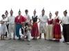 Traditionelle Musikgruppe an der Wallfahrtskirche von Monte, Funchal, Madeira, Portugal