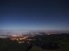 Lichter von Faial während einer Vollmondnacht, Madeira, Portugal