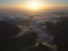 Sonnenaufgang über Madeira und dem Pico do Arieiro, Madeira, Portugal