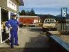 Tankstelleninhaber in Manapouri, Fjordland, Neuseeland