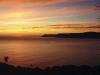 Sonnenaufgang über der Bucht von Te Araroa, Ostkap Neuseeland