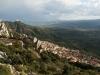 Blick von Baunei über die Ebene von Tortoli und den Supramonte, Sardinien, Italien