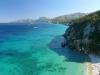 Der Strand der Cala Fuilli und die Ostküste im Golf von Orosei, Sardinien, Italien