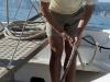 Auf dem Ausflugsboot im Hafen von Cala Gonone, Sardinien, Italien