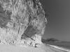 Felswelle an der Cala Luna im Golf von Orosei, Sardinien, Italien