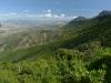 Blick über das Tal des Flumineddu und Dorgali, Baronia, Sardinien, Italien