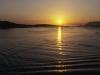 Sonnenaufgang über der Bucht von Olbia, Sardinien, Italien
