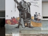 Murales in Orgosolo, Barbagia, Sardinien, Italien