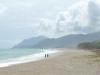 Der Planargia-Strand bei Barisardo vor dem Monte Ferru, Ogliastra, Sardinien, Italien