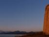 Küstenwachturm bei Torre di Bari im Licht des Sonnenaufgangs, Ogliastra, Sardinien, Italien