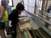 In der Teppichweberei-Kooperative Su Marmuri in Ulassai, Ogliastra, Sardinien, Italien