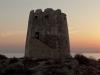 Sonnenaufgang an der Küste bei Torre di Bari, Ogliastra, Sardinien, Italien