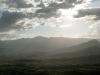 Ebene von Tortoli mit dem Supramonte-Gebirge, Ogliastra, Sardinien, Italien