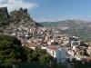 Das Bergdorf Ulassai im wilden Hinterland von Sardinien, Italien