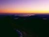 Lake Taupo bei Sonnenaufgang vom Gipfel des Ngauruhoe, Tongariro Nationalpark, Neuseeland