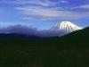 Der Vulkan Ngauruhoe im Winterkleid, Tongariro Nationalpark, Nordinsel Neuseeland