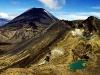 Red Crater, Ngauruhoe und Ruapehu Tongariro Nationalpark, Neuseeland