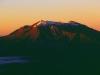 Die ersten Sonnenstrahlen am Ruapehu, Tongariro Nationalpark, Nordinsel Neuseeland