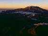 Sonnenaufgang über dem Ruapehu, Tongariro, Neuseeland