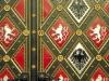 Wappen von Böhmen und Mähren auf der Tür zu St. Peter und Paul Kirche im Vysehrad, Prag, Tschechien