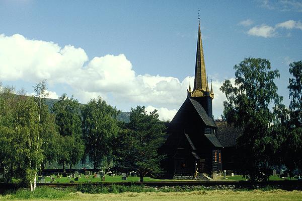 Stabkirche bei Lom, Norwegen