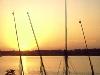 Sonnenuntergang am Nil bei Luxor, Ägypten