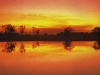 Sonnenuntergang bei Yellow Waters, Kakadu Nationalpark, Northern Territory, Australien