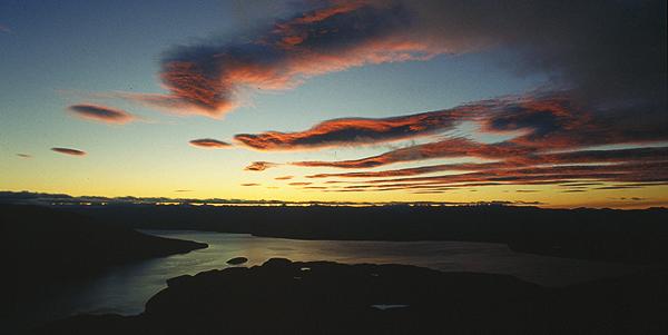 Lake Te Anau von der Luxmore Hut, Kepler Track