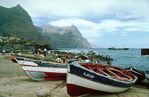Hafen von Ponta do Sol, Santa Antao, Kapverden