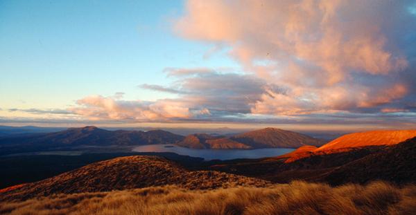 Aussicht von der Ketetahi Hut, Tongariro Nationalpark, Nordinsel Neuseland