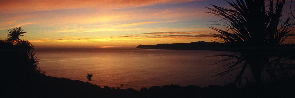 Wo das erste Licht auf Neuseeland trifft, am stillen Ostkap, Bucht von Te Araroa, Ostkap Neuseeland