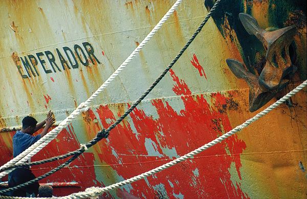 Hafenszene in Mindelo, Kapverden