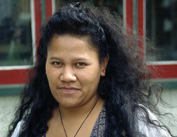 Portrait einer Maori Frau aus Neuseeland