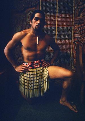 Maori-Tänzer im Museaum von Auckland