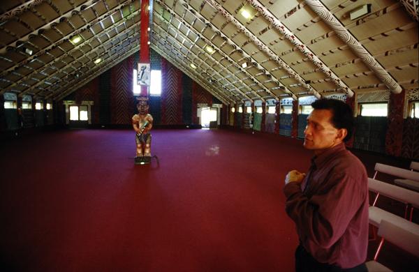 Versammlungshaus Nga Hau e Wha National Marae