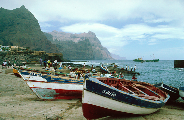 Hafen von Ponta do Sol, Santo Antao, Kapverde