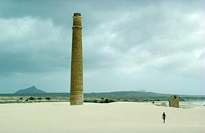 Ruinen am Starnd von Praia de Chave, Boavista, Kapverden