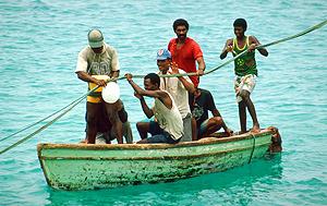 Fischer auf Sal