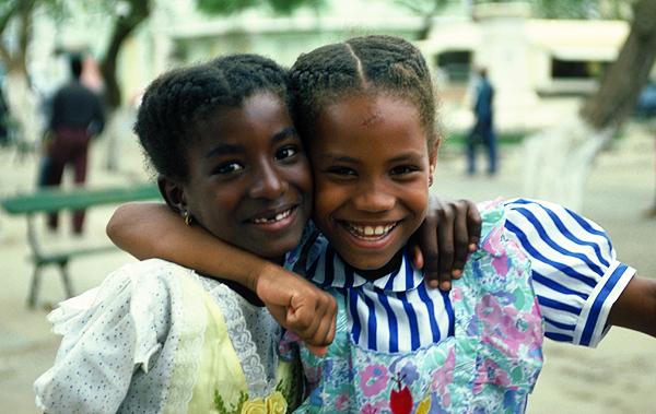 Kapverdische Mädchen in Praia