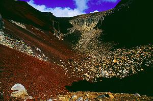 Im Red Crater, Tongariro Nationalpark, Nordinsel Neuseeland