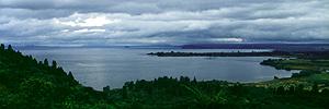 Lake Taupo oberhalb Waihi, Tongariro Nationalpark, Nordinsel Neuseeland