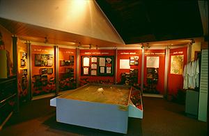 Visitor center in Whakapapa, Tongariro Nationalpark Neuseeland