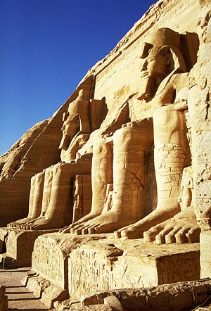 Ramsestempel von Abu Simbel am Nasser-Stausee, Nubien, Ägypten