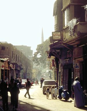 Strassenszene in Kairo, Ägypten