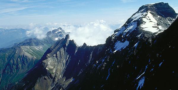 Der Hausstock und das Linthal, Glarus, Schweiz