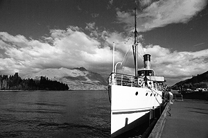 Dampfschiff Earnslaw auf dem Lake Wakatipu, Queenstown, Neuseeland