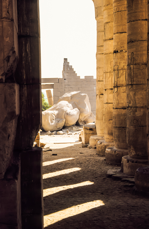 Das Ramesseum in Theben West, Ägypten