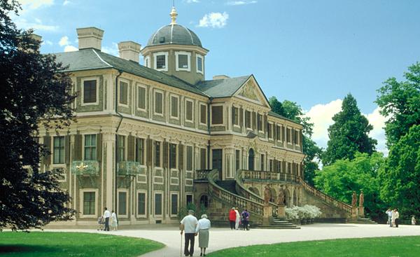 Das barocke Schloss Favorite, Rastatt, Baden-Württemberg, Deutschland