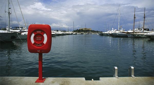 Im Hafen von Antibes, Cote d'Azur, Frankreich