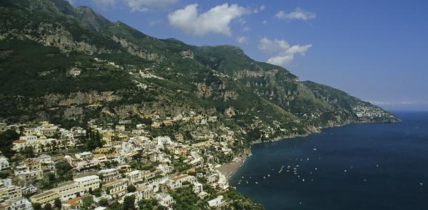 Positano an der Amalfiküste, Kampanien, Italien